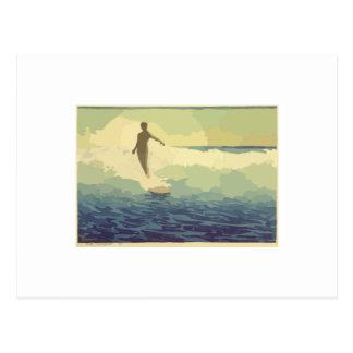 Vintage Surfing Postcard