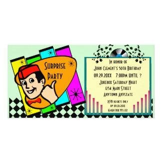 Vintage Surprise Birthday Party Invitation Photo Greeting Card