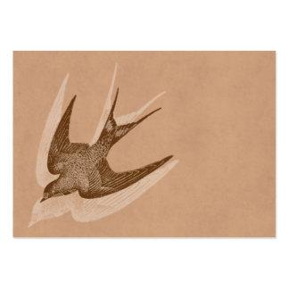 Vintage Swallow Illustration -1800 s Antique Bird Business Cards