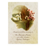 Vintage Swans Wedding enclosure cards Pack Of Chubby Business Cards