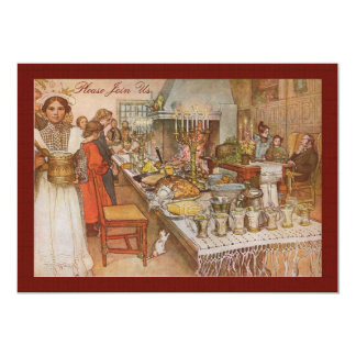 Vintage Swedish Holiday Brunch by Carl Larsson Card