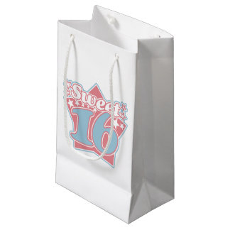 Vintage Sweet 16 Small Gift Bag