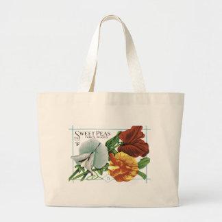 Vintage Sweet Peas Seed Packet Tote Bag