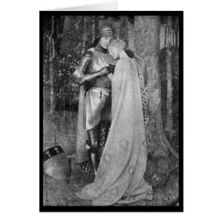Vintage - Sweet Romance - Middle Ages Greeting Card