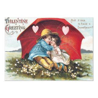 Vintage Sweetheart Valentine Flat Card Custom Invitations