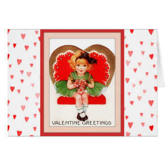 Vintage Sweetie Valentine's Day Card