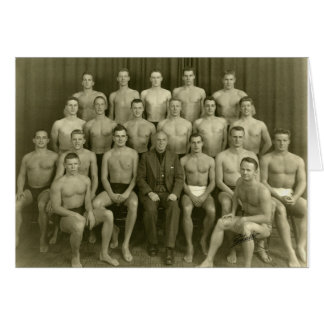 Vintage Swimmers Card