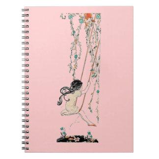 Vintage Swing Girl Notebook