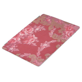 Vintage Swirls Floral Roses iPad Cover