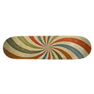 Vintage swirls pattern custom skateboard