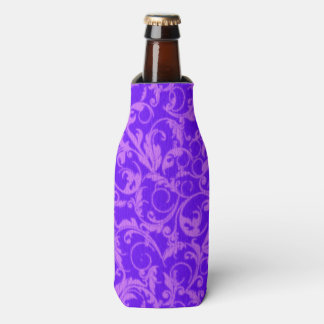 Vintage Swirls Ultraviolet Purple Bottle Cooler