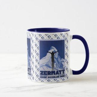 Vintage Swiss design, Zermatt Mug