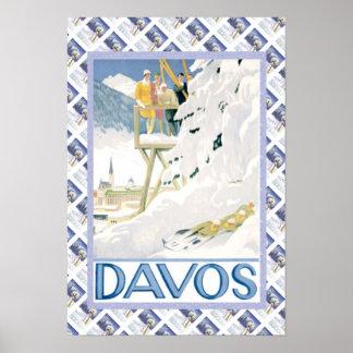 Vintage Swiss Poster Davos