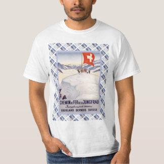 Vintage Swiss Railway Poster Jungfrau T-Shirt