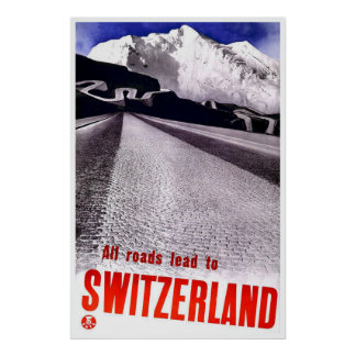 """Vintage Swiss Travel Poster"" Poster"