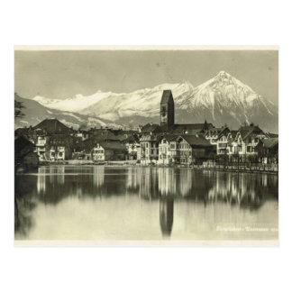 Vintage, Switzerland, Interlaken 1934 Postcard
