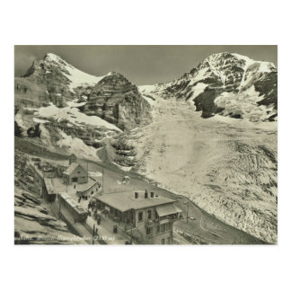 Vintage Switzerland, Jungfrau glacier Postcard