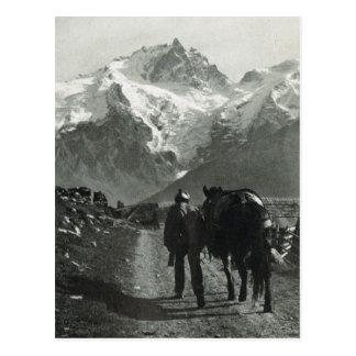 Vintage Switzerland Jungfrau region Postcard