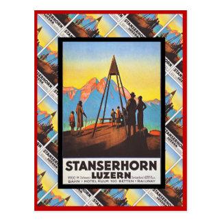 Vintage Switzerland, Lucerne, Stanzerhorn Postcard