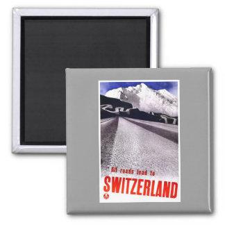 Vintage Switzerland Roads Refrigerator Magnet