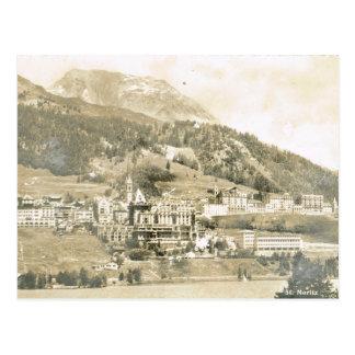 Vintage, Switzerland, St Moritz, 1906 Postcard