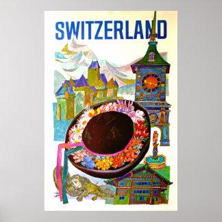Vintage Switzerland Travel Poster