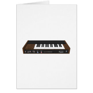 Vintage Synthesizer: 3D Model: Card