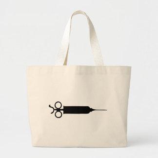 Vintage Syringe Large Tote Bag