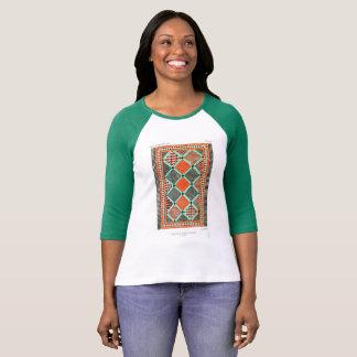 Vintage T-shirt Art Design Ceramic Mosaic pattern