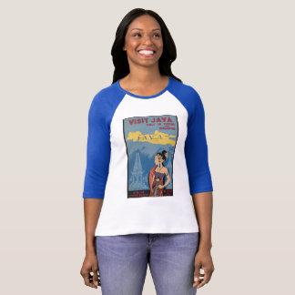 Vintage T-shirt Blue Visit JAVA 36 hours BATAVIA