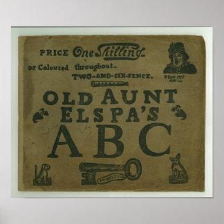 vintage T-shirt childrens old Aunt Elspa's ABC Poster