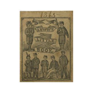 Vintage T-shirt Lewis 1865 little Book old school Wood Poster