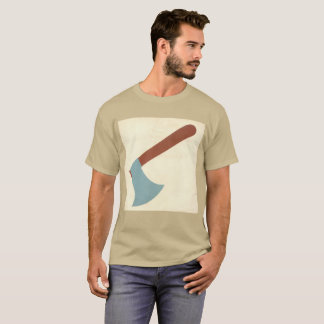 Vintage T-shirt Old school weapon Axe wood