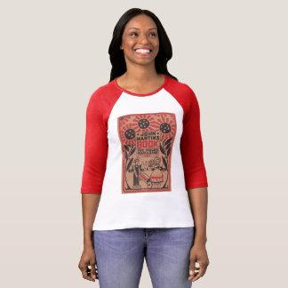 vintage t-shirt red john martin book sun flower