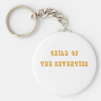Vintage T-shirts and Gifts Child of the Seventies Basic Round Button Key Ring