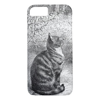 Vintage Tabby Cat Ink Sketch. iPhone 7 Case