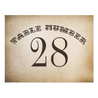 vintage table number cards