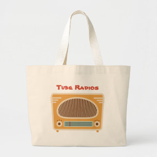 Vintage Tabletop Radio Collector Personalized Large Tote Bag