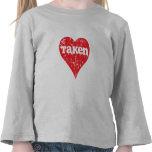 """Vintage """"Taken"""" Valentine's Day Heart Shirts"""