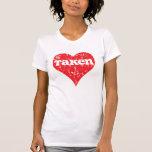 """Vintage """"Taken"""" Valentine's Day Heart Tee Shirts"""