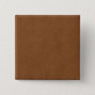 Vintage Tan Leather Brown Parchment Paper Blank 15 Cm Square Badge