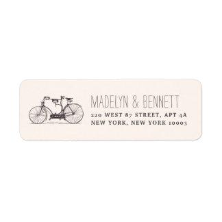 Vintage Tandem Bicycle Return Address Return Address Label