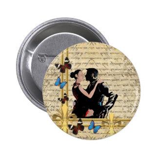 Vintage tango dancers pin
