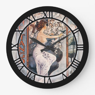 Vintage Tango Sheet Music Art Large Clock