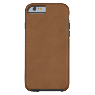 Vintage Tanned Leather Brown Parchment Template Tough iPhone 6 Case
