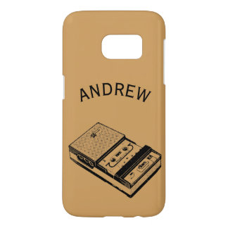 Vintage Tape recorder personalized Samsung Case