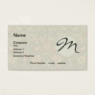 Vintage Tapestry Floral Fabric Pattern Business Card