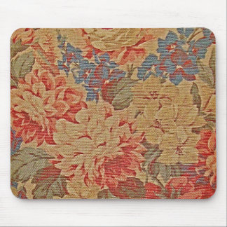 vintage tapestry floral pattern mouse pad
