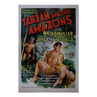 Vintage Tarzan Movie Poster