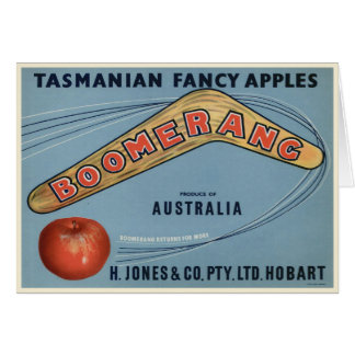 Vintage Tasmanian Crate Label Print Greeting Card